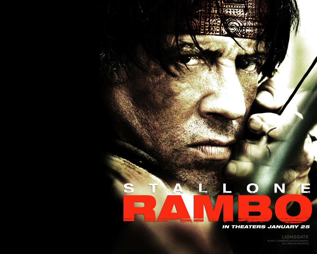 Promotional poster for Rambo (2008)