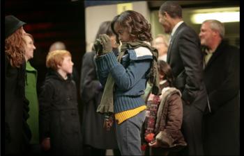 Malia in Philadelphia before the President-elect's train leaves for Washington, DC