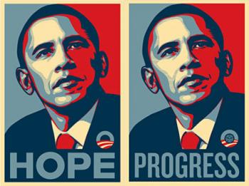 Shepard Fairey\'s Barack Obama Print