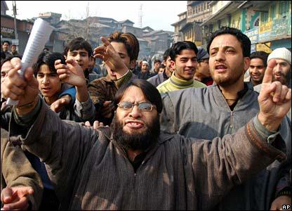 BBC media coverage of demonstration