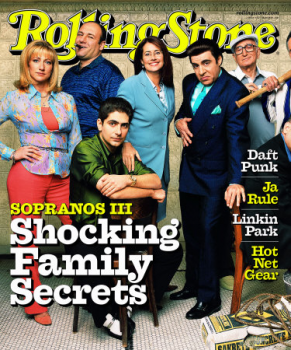 Cast of The Sopranos on Rolling Stone
