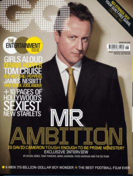 David Cameron on the cover of GQ