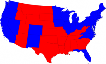 red vs. blue election map
