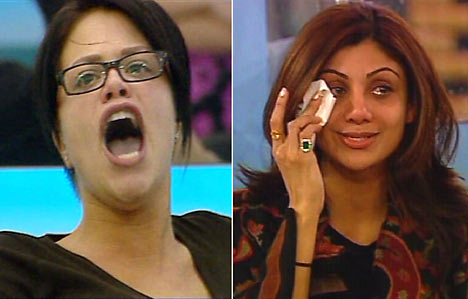 Jade Goody (left) and Shilpa Shetty (right)