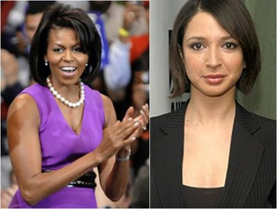 Michelle Obama and Maya Rudolph