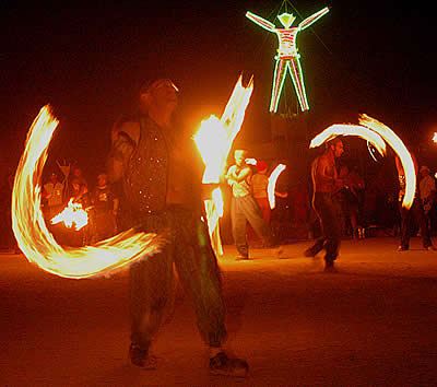 Fire Conclave performers on the night of the burn