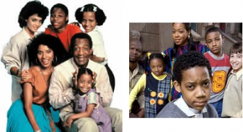 (l) The Cosby Show and (r) Everybody Hates Chris