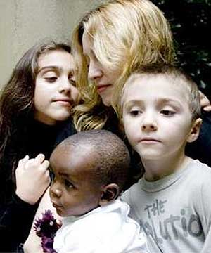Angelina jolie madonna oprah and african children on media madonna and david ccuart Images