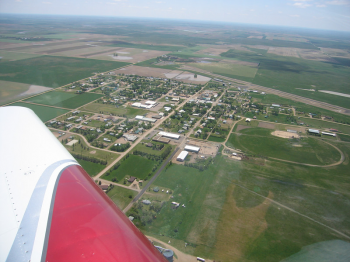 The Small Dish Town of Bison, South Dakota