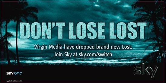 Sky's Lost ad