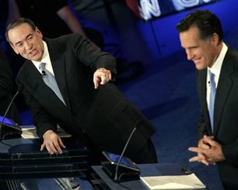 Mitt Romney and Mike Huckabee