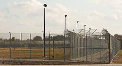 Recreation yard at Hutto Detention Center