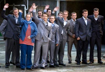 British sailors waving goodbye