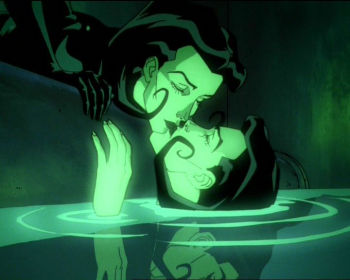 "Æon Flux clones kiss in ""A Last Time for Everything."""