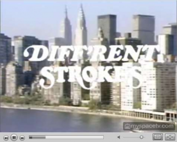 Different Strokes on MySpace's Minisode Network, featuring five-minute long edited episodes of kitchy programs