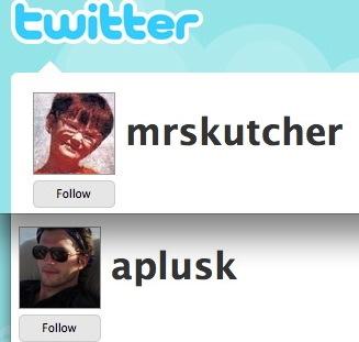 kutcher's twitter