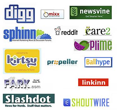 Image of Social News and Social Imaging Logos