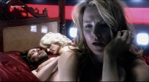 Gaius, Caprica and Three in bed together