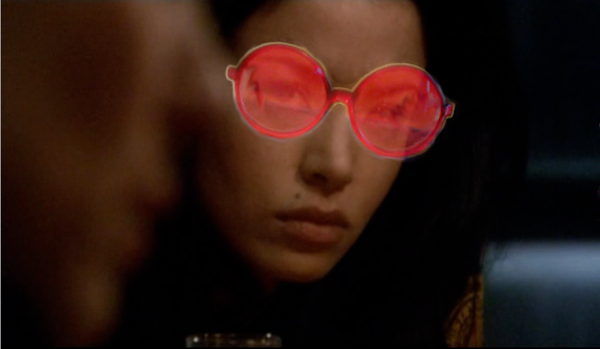 Kendra watching Cain with girlslash goggles