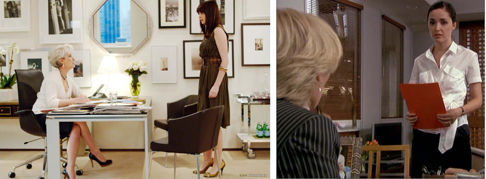 Intergenerational office tensions between the women of The Devil Wears Prada and Damages.