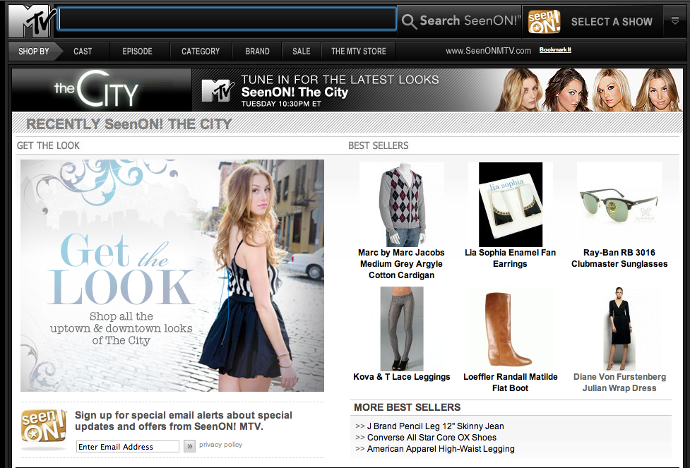The City's costumes available for purchase on MTV.com