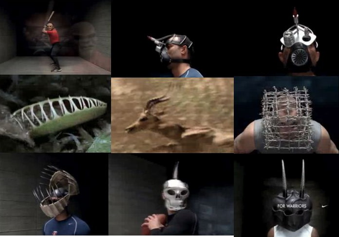 Masks from Nike's Pro Apparel Ad