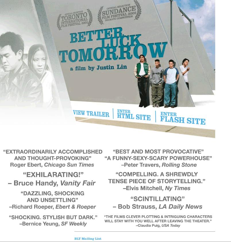 Better Luck Tomorrow website