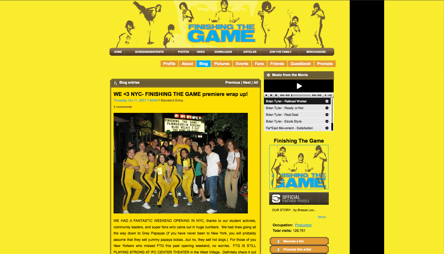 Finishing the Game's blog