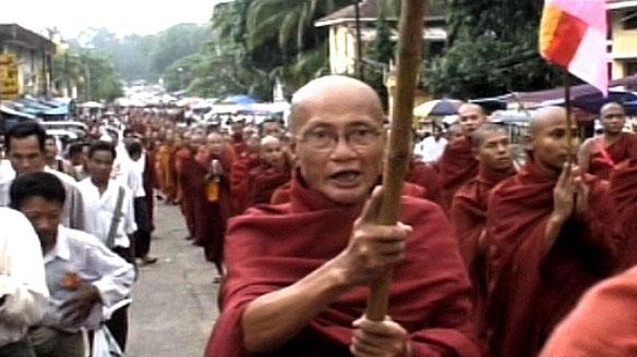 Burma VJ: Buddhist monks in anti-government protest