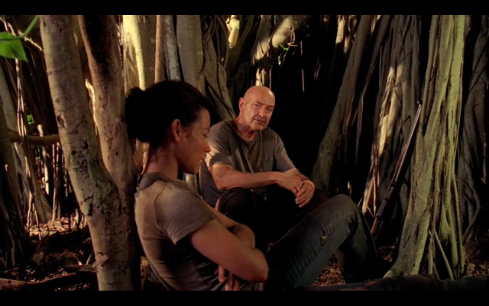 Locke and Kate in Lost