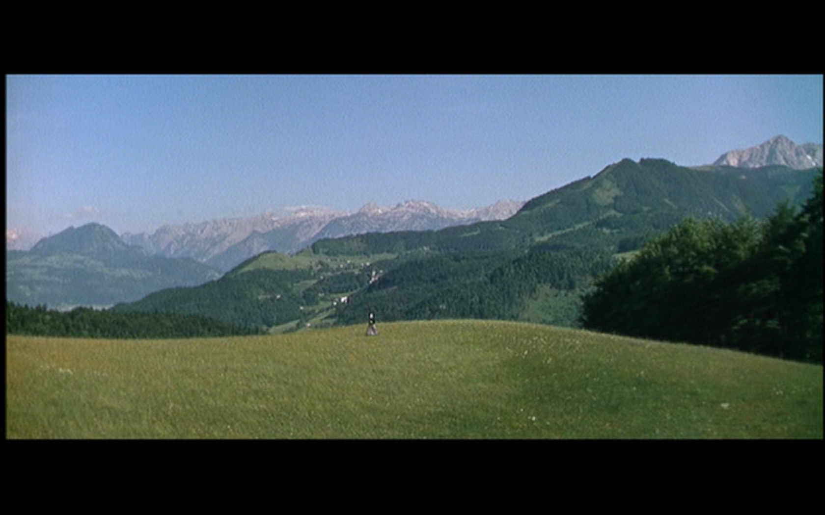 Helicopter shot from The Sound of Music
