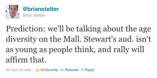Stelter's tweet