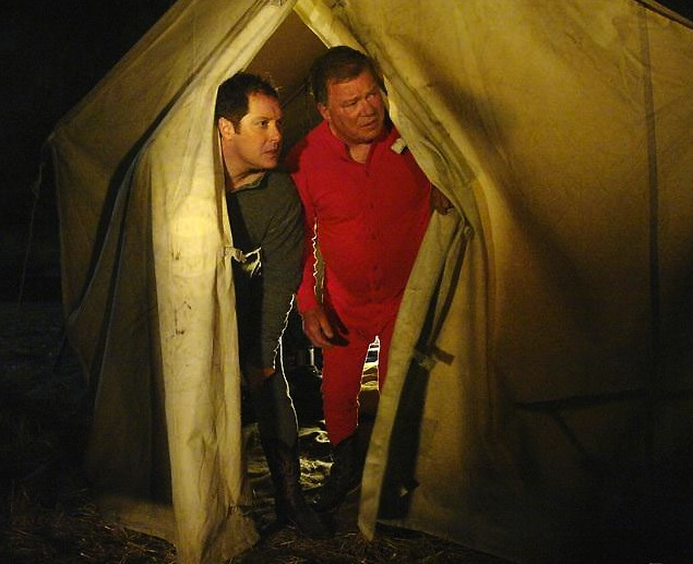 Denny and Allen in tent