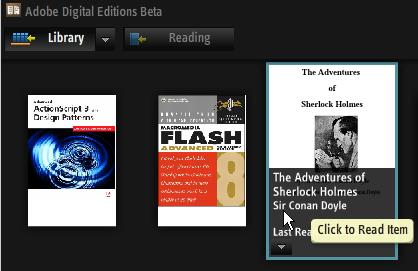 adobe digital editions library