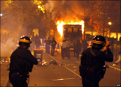 Rioters in Paris