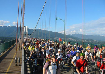 Critical Mass in Vancouver, BC