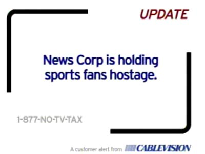 News Corp-Cablevision feud