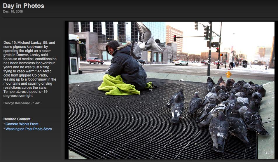 Homeless man in Denver