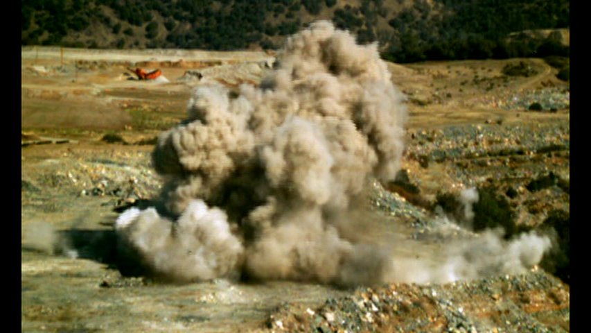 During the explosion