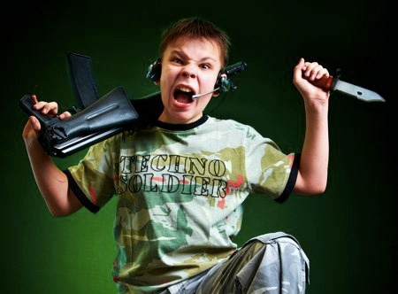 Techno-Soldier: Representation of Very Young Male Gamer Violence