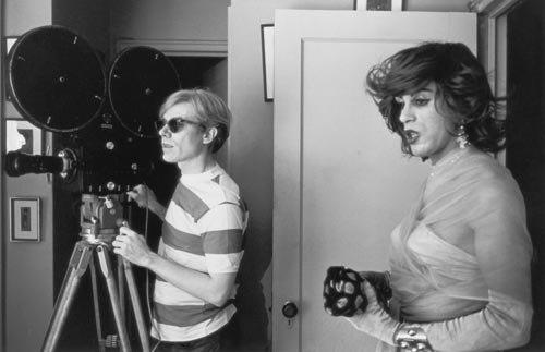Andy Warhol and Mario Montez