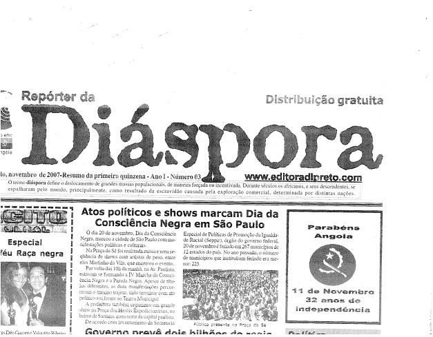 Section of Diáspora Newspaper