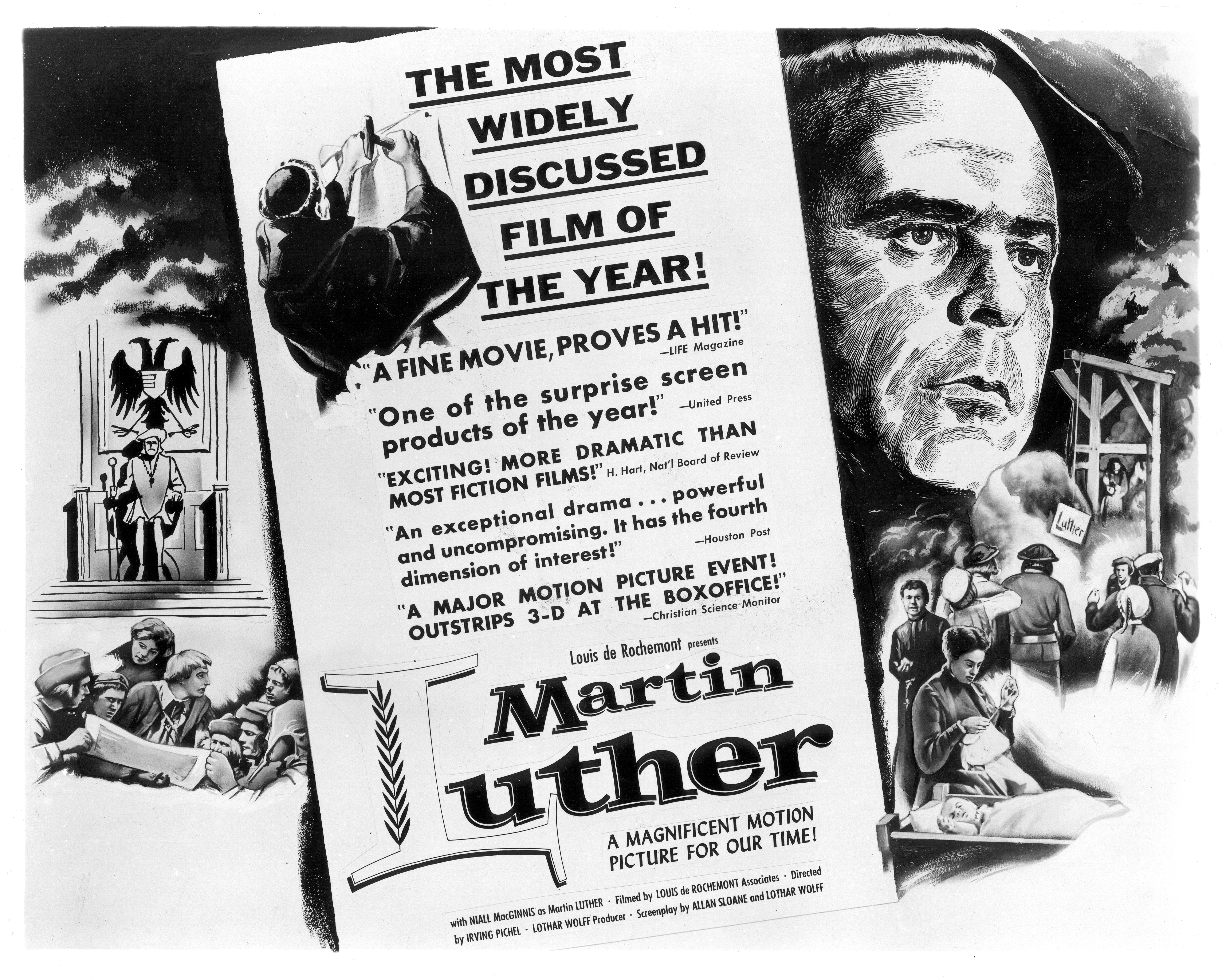 Publicity Ad for Martin Luther (1953)