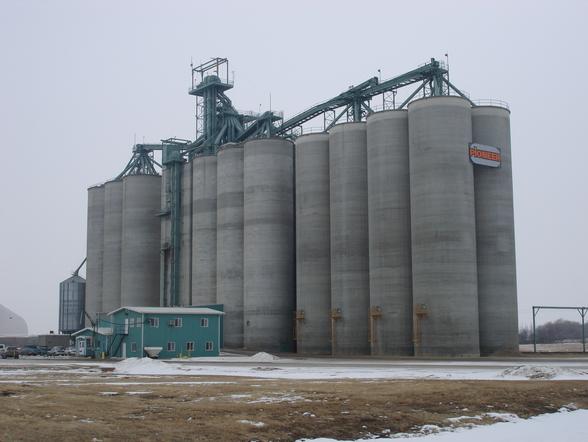 High through-put grain silo
