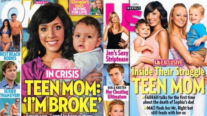 tabloid coverage of Teen Mom