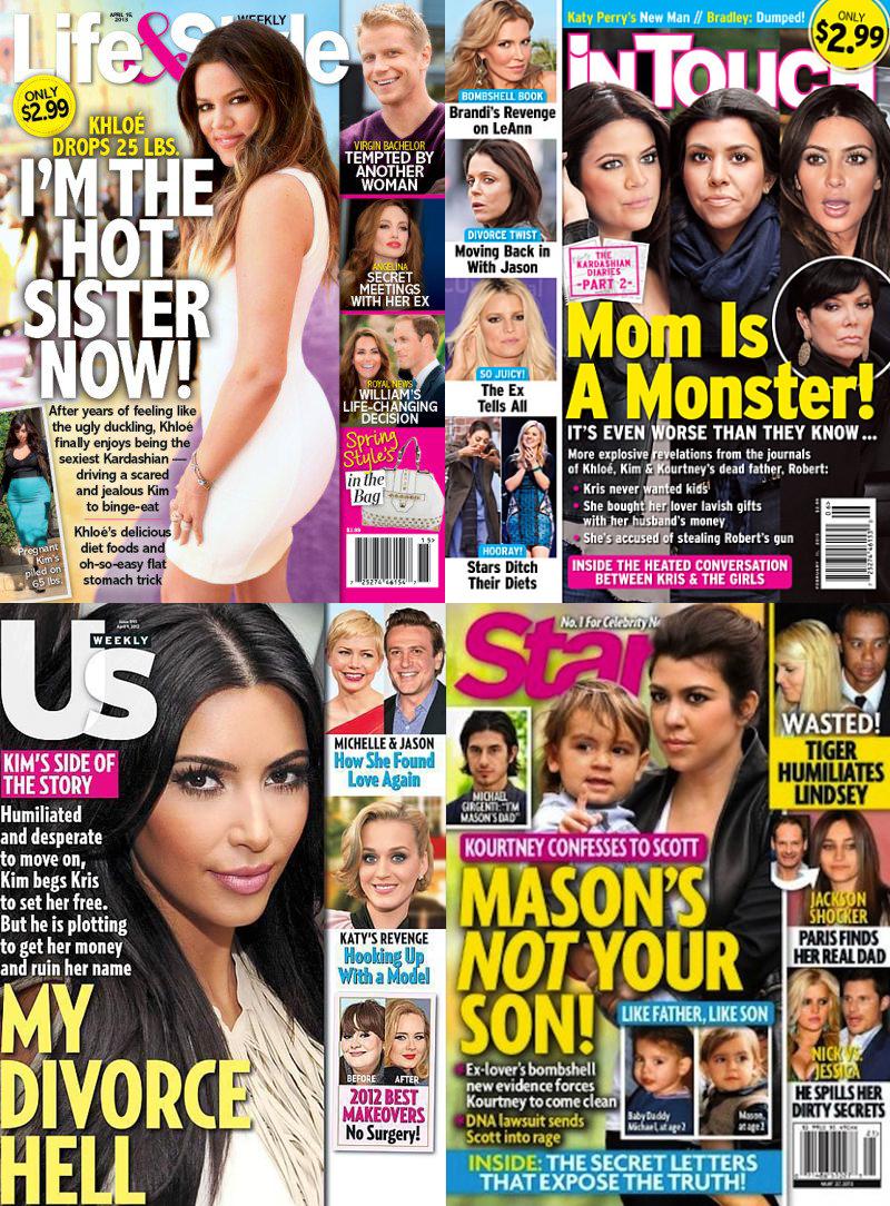 Kardashians on magazines
