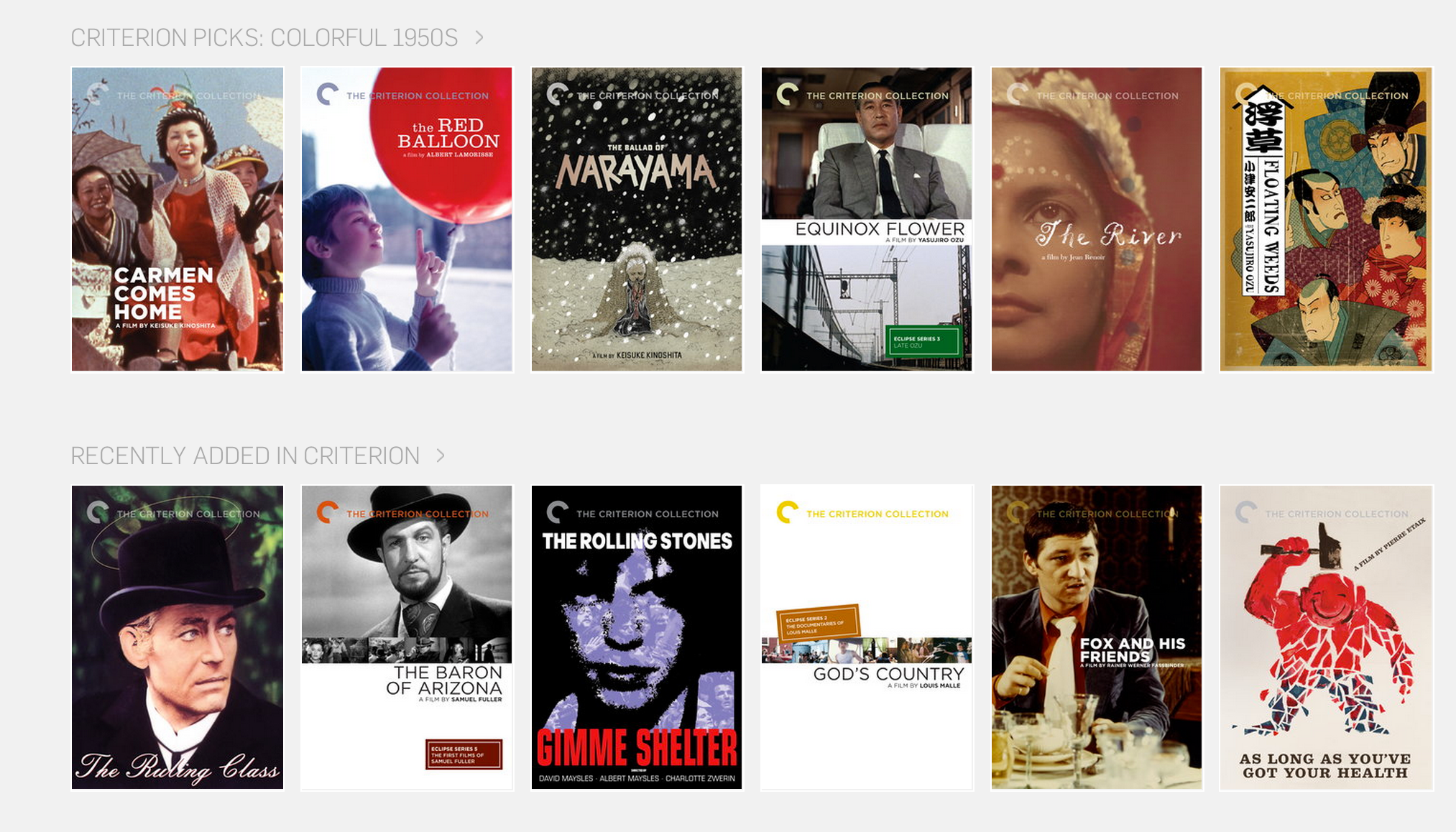 Curating categories in Hulu's Criterion library