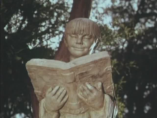 Book of Stone Statue