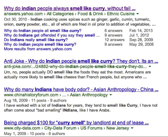 Examples of racist interpretations