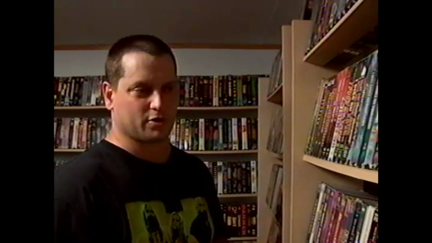 VHS collector's room